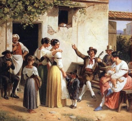 Marstrand- allegrezza popolare all'osteria - 1853
